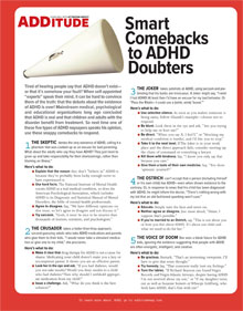 Smart Comebacks to ADHD Doubters