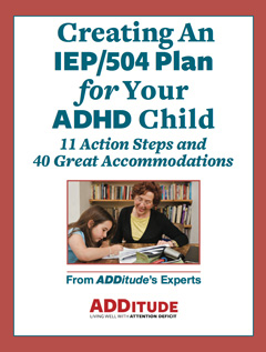 Creating An IEP/504 PLan for Your ADHD Child Printable Cover 240px