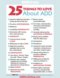 25 Things to Love About ADHD
