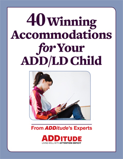 40 Winning Accommodations for Your ADD/LD Child Printable Cover 240px