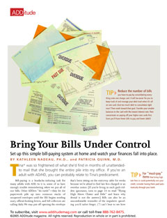 Pay Bills On Time with Adult ADHD