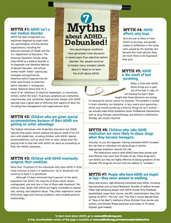 7 Myths About ADHD, Debunked