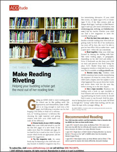 Reading Help for ADHD Students