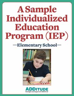 A Sample IEP for an Elementary School Student Cover 240px
